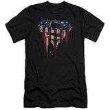 Superman- Graffiti Flag Shield (Slim Fit) T-shirts