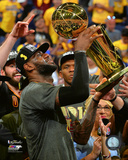 Lebron James with the NBA Championship Trophy Game 7 of the 2016 NBA Finals Fotografía