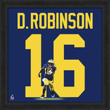 Denard Robinson, University of Michigan Wolverines - Framed photographic representation of the play Framed Memorabilia