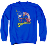 Crewneck Sweatshirt: Superman- American Flag Bearer T-Shirt