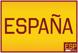 Espana- Horizontal Gold Fan Sign Prints