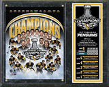 Pittsburgh Penguins 2016 Stanley Cup Champions Composite Plaque Wall Sign