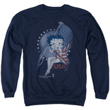 Crewneck Sweatshirt: Betty Boop- Patrioic Icon Shirts