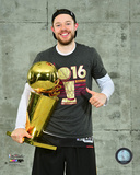 Matthew Dellavedova with the NBA Championship Trophy Game 7 of the 2016 NBA Finals Photo