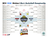 University of Michigan Wolverines 2013 NCAA Men's College Basketball National Champions Bracket Photo