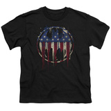 Youth: Batman- Graffiti Flag Shield Shirts