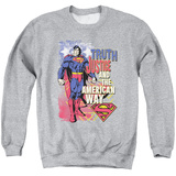 Crewneck Sweatshirt: Superman- Truth & Justice Shirts