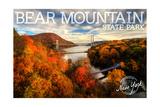 Bear Mountain State Park, New York - Bridge and Fall Foilage Prints by  Lantern Press