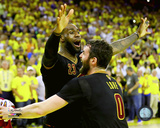 Lebron James & Kevin Love celebrate winning Game 7 of the 2016 NBA Finals Photo