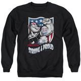 Crewneck Sweatshirt: Popeye- Strong &Amp; Proud T-Shirt