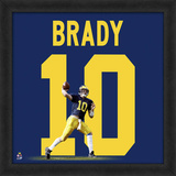 Tom Brady, University of Michigan Wolverines - Framed photographic representation of the player's j Framed Memorabilia