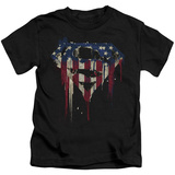 Juvenile: Superman- Graffiti Flag Shield T-Shirt