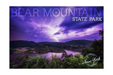Bear Mountain State Park, New York - Purple Sky and Lightning Posters by  Lantern Press