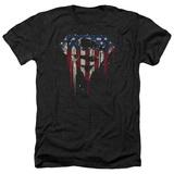 Superman- Graffiti Flag Shield T-shirts