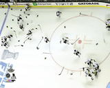 The Pittsburgh Penguins celebrate Game 6 of the 2016 Stanley Cup Finals Photo