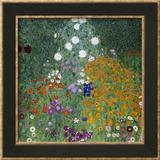 Farmer's Garden Framed Giclee Print by Gustav Klimt
