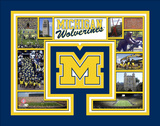 University of Michigan Wolverines Milestones & Memories Matted Print