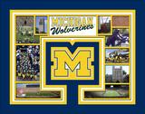 University of Michigan Wolverines Milestones & Memories Matted Print