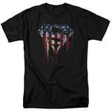 Superman- Graffiti Flag Shield T-shirts