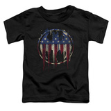 Toddler: Batman- Graffiti Flag Shield T-Shirt