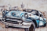 Vintage Car in Blue Art