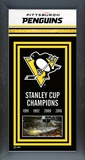 Pittsburgh Penguins 2016 Stanley Cup Champions Banner - Wood Frame with Glass Framed Memorabilia