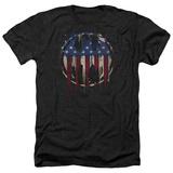 Batman- Graffiti Flag Shield T-shirts