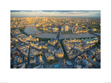 Jason Hawkes- London Evening Print by Jason Hawkes