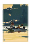 Fishermen in Boat Prints by  Lantern Press