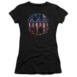 Juniors: Batman- Graffiti Flag Shield T-Shirt