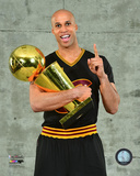 Richard Jefferson with the NBA Championship Trophy Game 7 of the 2016 NBA Finals Photo
