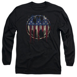Long Sleeve: Batman- Graffiti Flag Shield Long Sleeves
