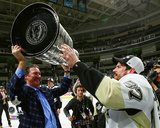 Mario Lemieux & Sidney Crosby with the Stanley Cup Game 6 of the 2016 Stanley Cup Finals Photo