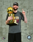 Kevin Love with the NBA Championship Trophy Game 7 of the 2016 NBA Finals Photo