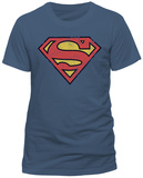 Superman- Vintage Distressed Shield (Slim Fit) Vêtements
