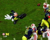 Mickey Mouse Kicking Uinversity of Michigan In-Play Photo