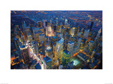 Jason Hawkes- Manhattan At Night Poster by Jason Hawkes