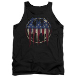 Tank Top: Batman- Graffiti Flag Shield Tank Top