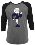 Dinosaur Jr.- Peace Sign Guy (Raglan ) Bluser