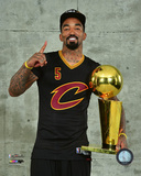 J.R. Smith with the NBA Championship Trophy Game 7 of the 2016 NBA Finals Photo
