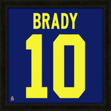 Tom Brady, University of Michigan - Framed photographic representation of the player's jersey Framed Memorabilia