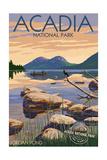 Acadia National Park, Maine - Celebrating 100 Years - Jordan Pond Poster von  Lantern Press