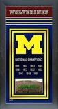 NCAA Michigan Wolverines Framed Championship Banner Framed Memorabilia