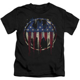 Juvenile: Batman- Graffiti Flag Shield T-Shirt