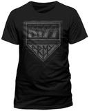 Kiss- Distressed Army Shield (Slim Fit) T-Shirt