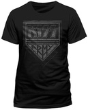 Kiss- Distressed Army Shield (Slim Fit) T-Shirt