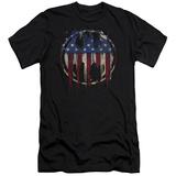 Batman- Graffiti Flag Shield (Slim Fit) T-shirts