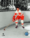 Gordie Howe Spotlgiht Action Photo