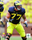 Taylor Lewan University of Michigan Wolverines 2013 Action Photo