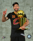 Dahntay Jones with the NBA Championship Trophy Game 7 of the 2016 NBA Finals Photo
